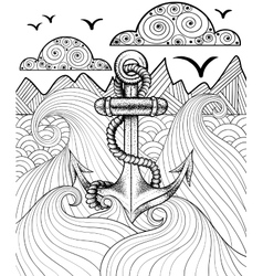 zentangle print for adult coloring page vector image
