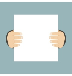 Flat Design Business Hands Holding Paper for vector image vector image