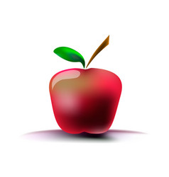 image of a red apple on a white background with a vector image vector image