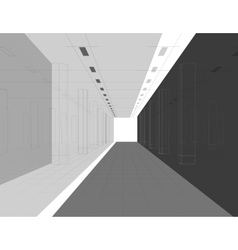 Interior in lines vector image