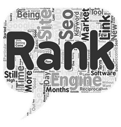 Months Without SEO text background wordcloud vector image