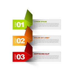 three steps template vector image vector image