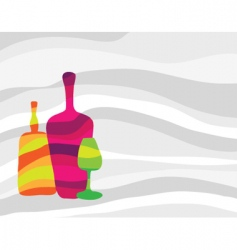 wine and alcohol background vector image