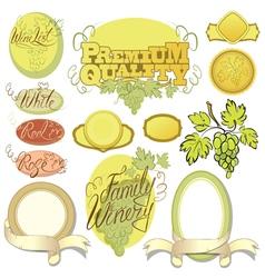 wine calligraphy 380 vector image vector image