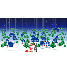 winter landscape banner christmas design with vector image vector image