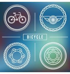 bike emblems vector image