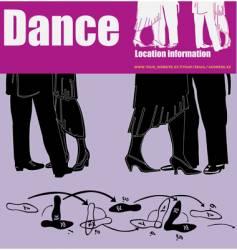 dance flyer vector image vector image