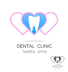 dental clinic logo vector image