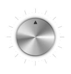 Metal round knob with mark and scale divisions on vector image
