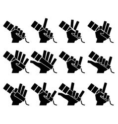 Microphone icons on white background vector image