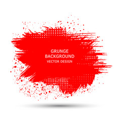 Red paint ink brush strokes brushes lines vector