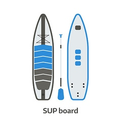 Sup board and paddle set vector