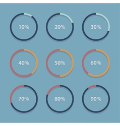 Circle chart graph infographic percentage vector image vector image
