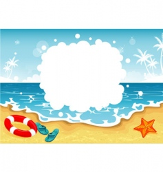 summer beach tropic vector image vector image