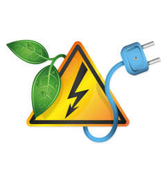 natural electricity plug vector image