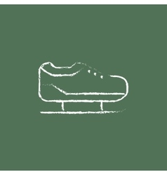 Skate icon drawn in chalk vector image