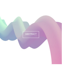 Abstract 3d pastel stripe vector