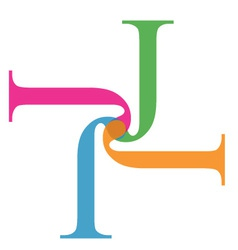 Artwork with alphabet J vector