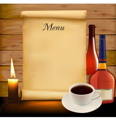 background with menu vector image