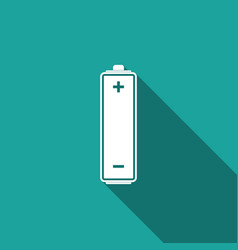 battery icon isolated with long shadow vector image