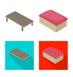 bedroom and room icon vector image