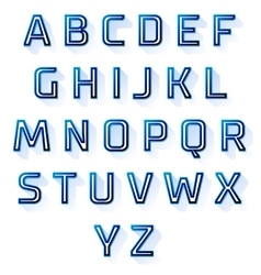 Blue font design set vector