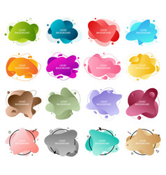 Bundle 16 abstract modern graphic liquid vector