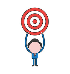 businessman character holding up bulls eye color vector image