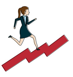 businesswoman in statistic avatar character vector image