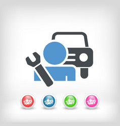 car assistance icon concept vector image