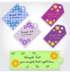 Colorful tags for scrapbook vector