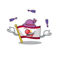 Cool flag french polynesia scroll mascot cartoon vector