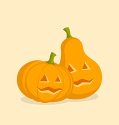Couple Pumpkins for Halloween vector image
