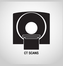 Ct scans medical logo icon design vector
