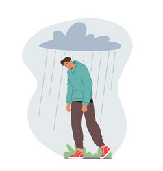 Depressed anxious man suffer depression vector