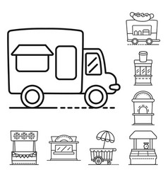 Design vending and public icon vector