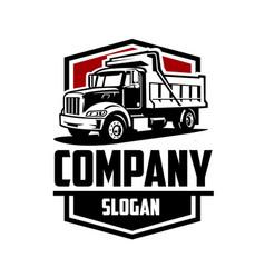 dump truck logo isolated good for transport vector image