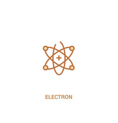 Electron concept 2 colored icon simple line vector