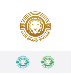 elegant lion logo vector image