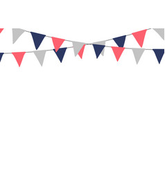 Festive bunting flags holiday decorations vector