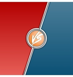 Fighter versus screen with red and blue sides vector