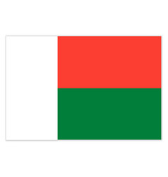 flag of the republic madagascar with shadow vector image