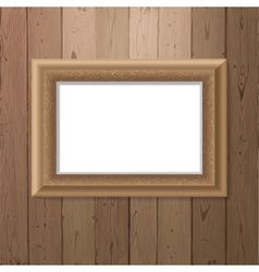 Frame over wooden background vector