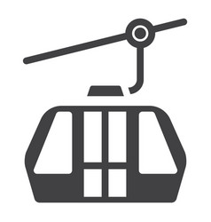 Funicular solid icon travel and tourism vector