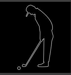 Golfer the white path icon vector