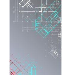 Gray architectural background vector