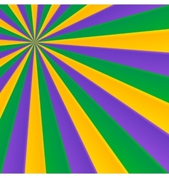Green yellow and violet rays carnival background vector image