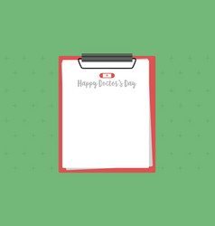 greeting card doctor day style collection vector image