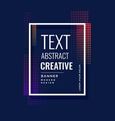 Halftone abstract modern banner design vector