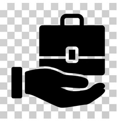 hand holding case icon vector image